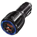 Quick Charge 3.0 30W Fast Car Charger DC-681 - 2 x USB - Black